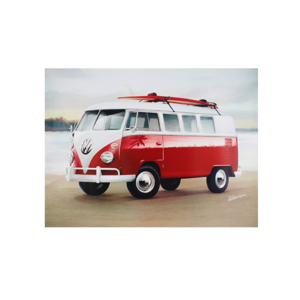 Volkswagen Kunstdruck Bild T1 Bulli am Strand