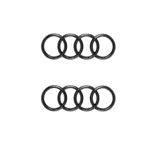 Original Audi Logo Emblem Ringe schwarz vorne + hinten TT TTRS 8S ab 2015
