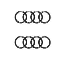 Original Audi Logo Emblem Ringe schwarz vorne + hinten TT...