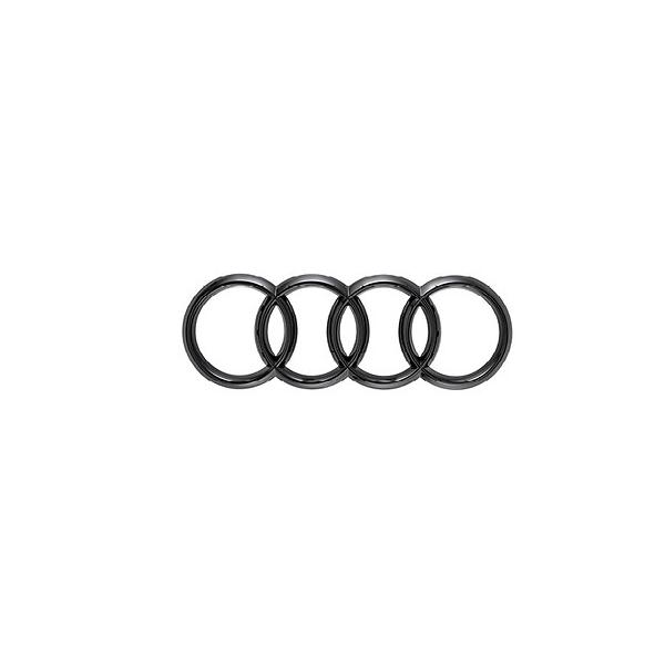Original Audi TTRS Ringe Logo Emblem schwarz zum Aufkleben vorne Motorhaube