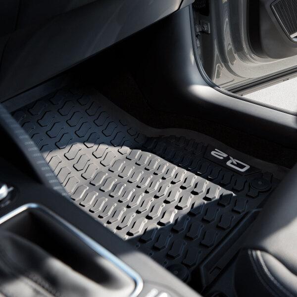 Original Audi Q2 Gummi Allwetter Fußmatten Matten vorne
