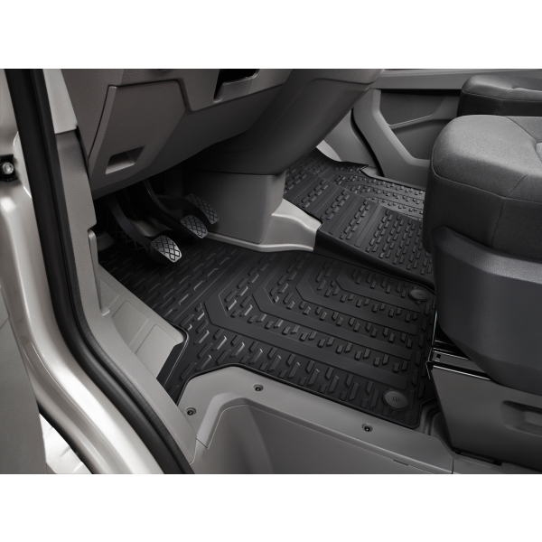 Original Volkswagen Crafter Gummi-Fußmatten Allwettermatten vorne 3-teilig